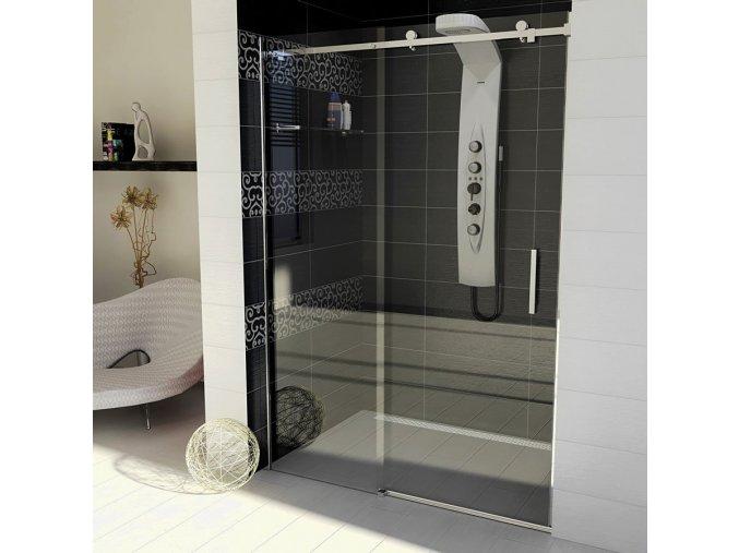 DRAGON sprchové dveře 1600mm, čiré sklo   czkoupelna.cz