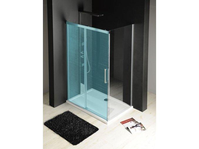 FONDURA boční stěna 1000mm, čiré sklo | czkoupelna