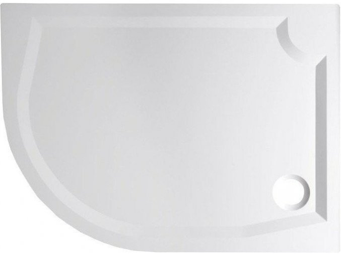 RIVA sprchová vanička z litého mramoru, čtvrtkruh 120x90cm, pravá (GR1290R) | czkoupelna