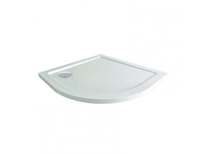 čtvrtkruhová sprchová vanička, 90x90x4 cm, R550, SMC | czkoupelna.cz