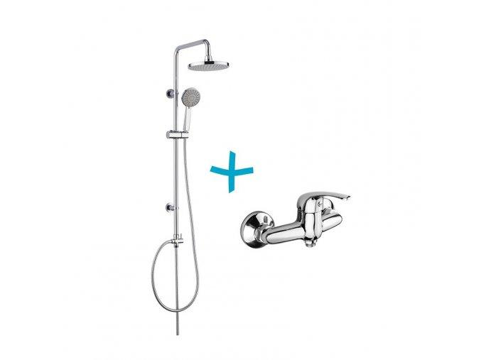 Sprchová souprava Lila - plastová hlavová sprcha a třípolohová ruční sprcha vč. sprchové  baterie 150mm   czkoupelna.cz