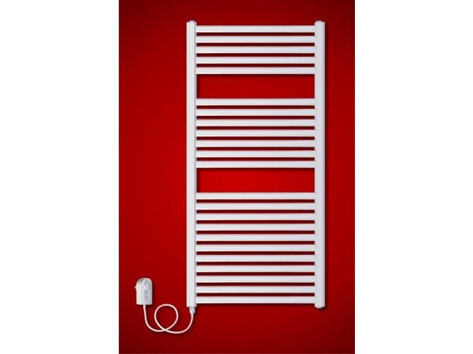 BKM.ER koupelnový elektrický radiátor 600 x 1233 mm, s regulátorem teploty (El. vývod Pravé provedení)