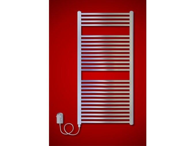 CS.ER 480 x 790 mm koupelnový elektrický radiátor, chrom (El. vývod Pravé provedení)