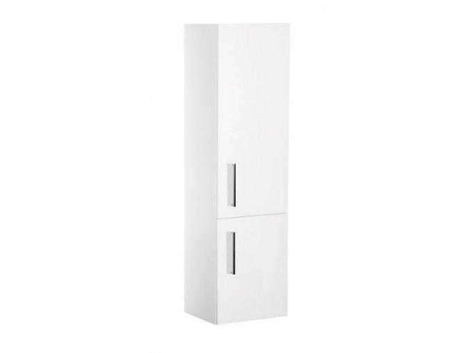 Trento W V 40 P/L bílá - koupelnová doplňková skříňka závěsná vysoká