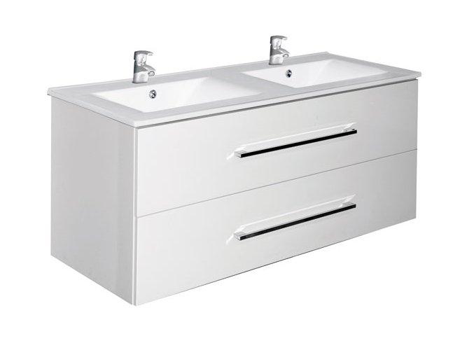 Trento W 120 bílá - koupelnová skříňka s umyvadlem | czkoupelna.cz