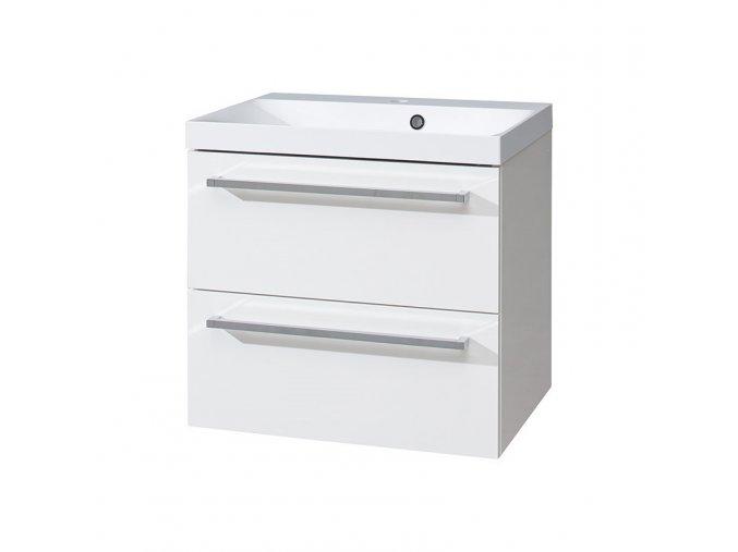 Koupelnová skříňka s umyvadlem z litého mramoru 60 cm | czkoupelna.cz