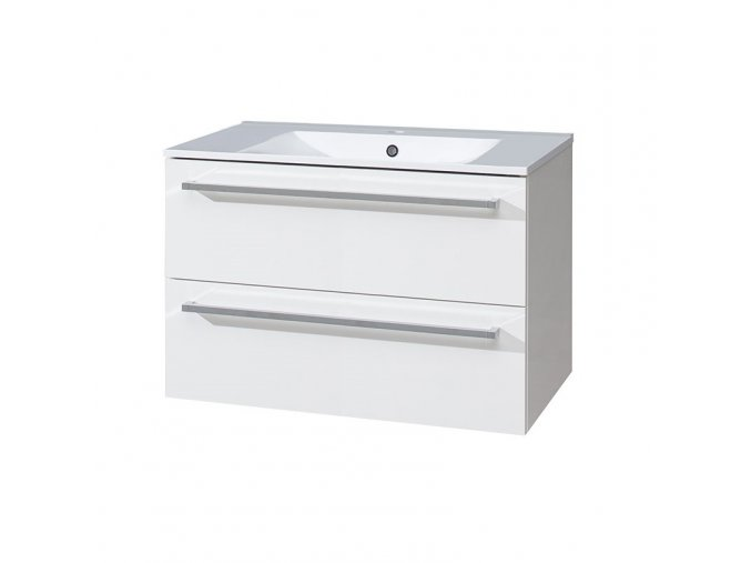 Koupelnová skříňka s keramický umyvadlem 80 cm-CN660