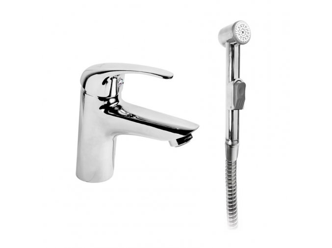 MEREO Umyvadlová stojánková baterie Lila s bidetovou sprchou | czkoupelna