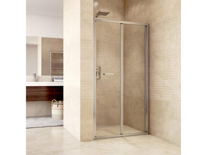 CK80123H Sprchové dveře zalamovací, Mistica Exclusive, 90x190 cm, chrom. profil, sklo Čiré nebo Chinchilla | czkoupelna