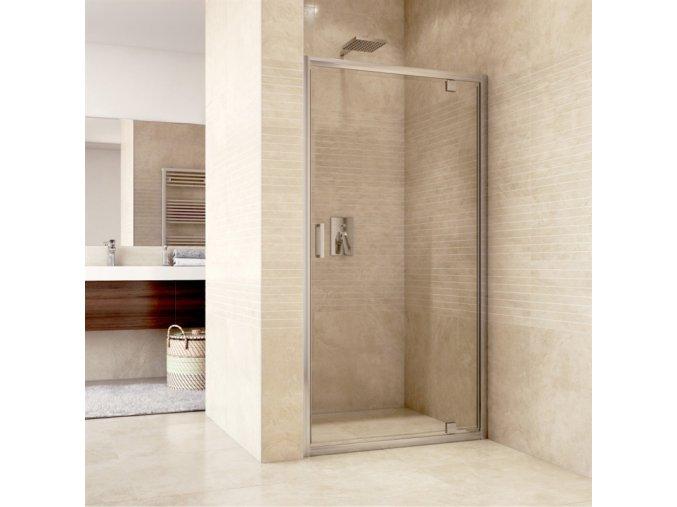 Sprchový dveře pivotové, Mistica Exclusive, 80 cm, chrom. profily, sklo Čiré (CK80913H) | czkoupelna