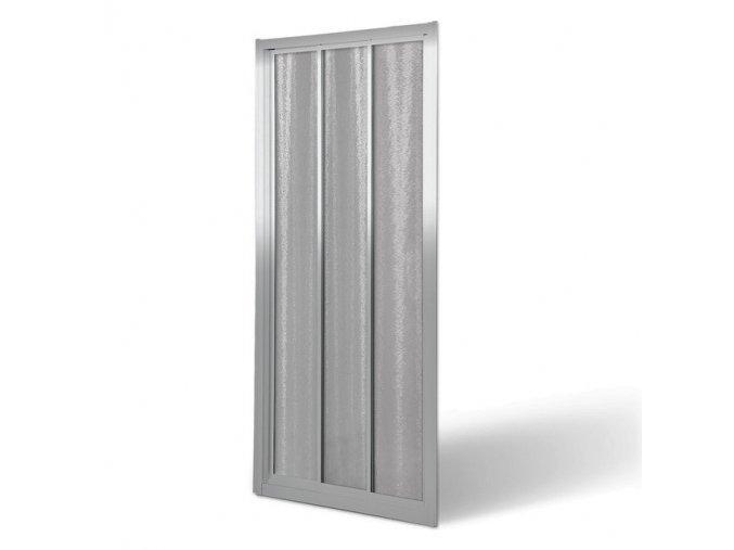ROSS ROLTE 80cm posuvné sprchové dveře 75-80,5 cm  rám stříbrný,bezpečnostní sklo chinchilla