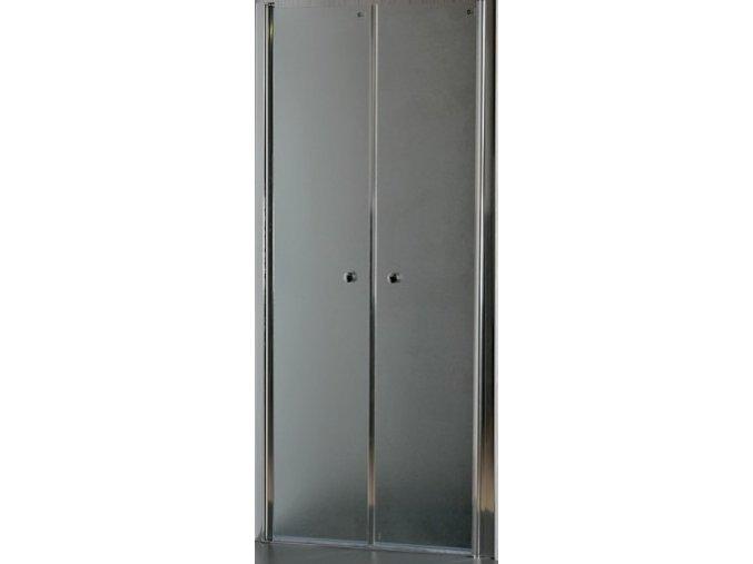 ROSS BEATA 80D dvoukřídlé dveře 76-80 cm, sklo grep 5 mm   czkoupelna