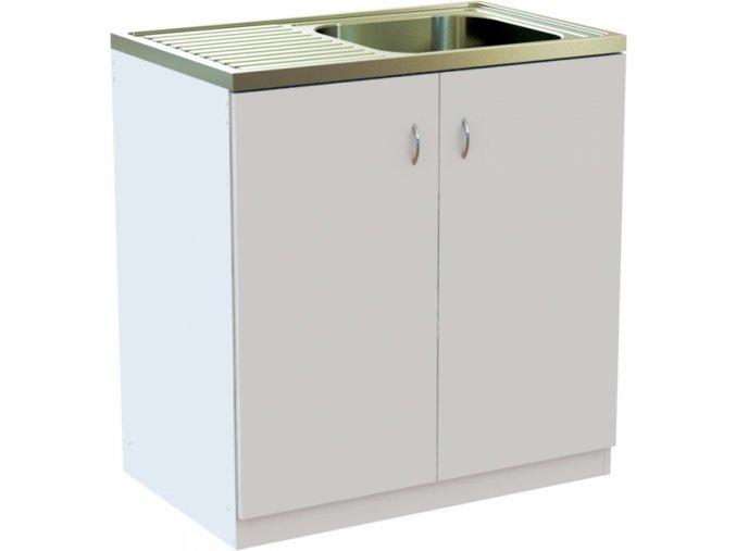Kuchyňská skříňka 80 cm s NEREZ dřezem | czkoupelna.cz