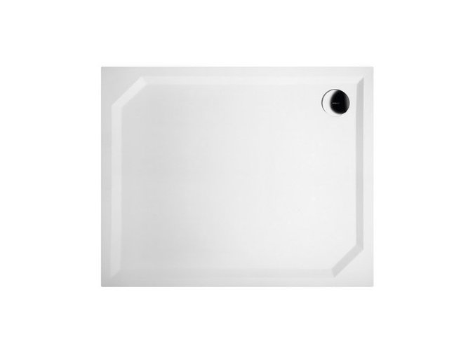 SARA sprchová vanička z litého mramoru, obdélník 100x90x4cm | czkoupelna