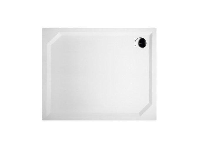 SARA sprchová vanička z litého mramoru, obdélník 110x80x4cm, hladká | czkoupelna
