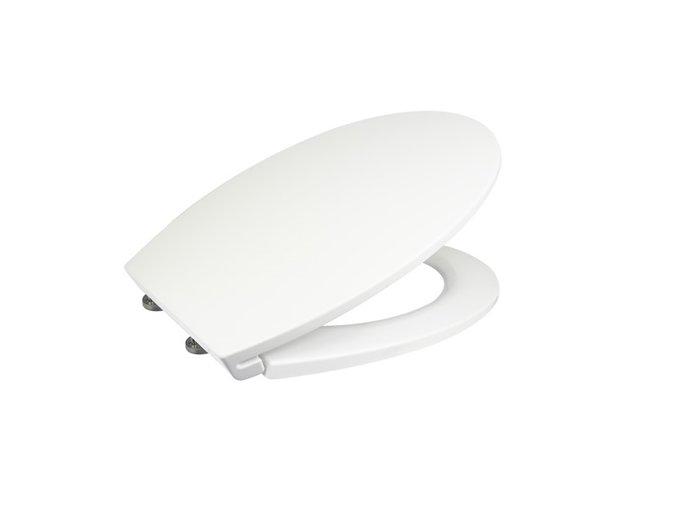 CSS114S Samozavírací WC sedátko slim, duroplast, bílé, s odnímatelnými panty CLICK