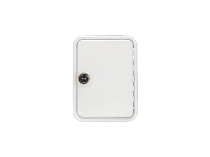 Komínová dvířka bílá s otočným knoflíkem 140 x 205 | czkoupelna