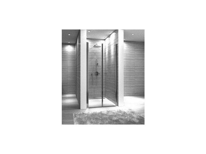 Trend 90 - sprchové dvoukřídlé dveře 89-91 cm   czkoupelna.cz