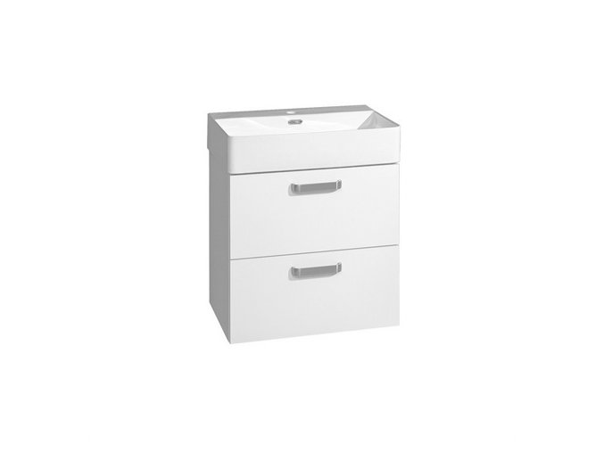 CN811 Koupelnová skříňka LENY s keramickým umyvadlem, bílá, 60 cm