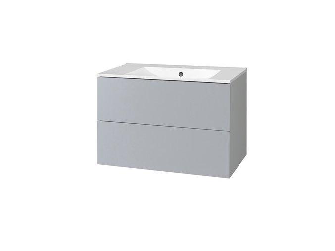 CN730 Koupelnová skříňka AIRA s keramický umyvadlem 60 cm, šedá | czkoupelna.cz