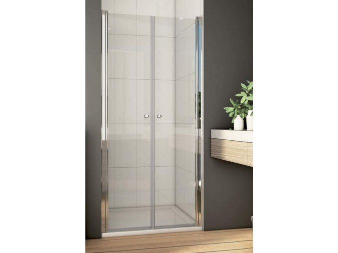 Taurus 90 - sprchové dvoukřídlé dveře 86-91 cm, čiré sklo 6 mm | czkoupelna.cz