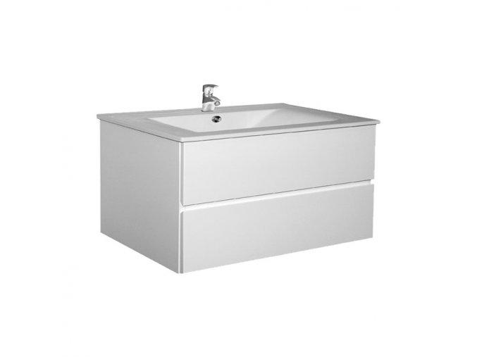 Brunette 100 - koupelnová skříňka závěsná zásuvková s keramickým umyvadlem | czkoupelna.cz