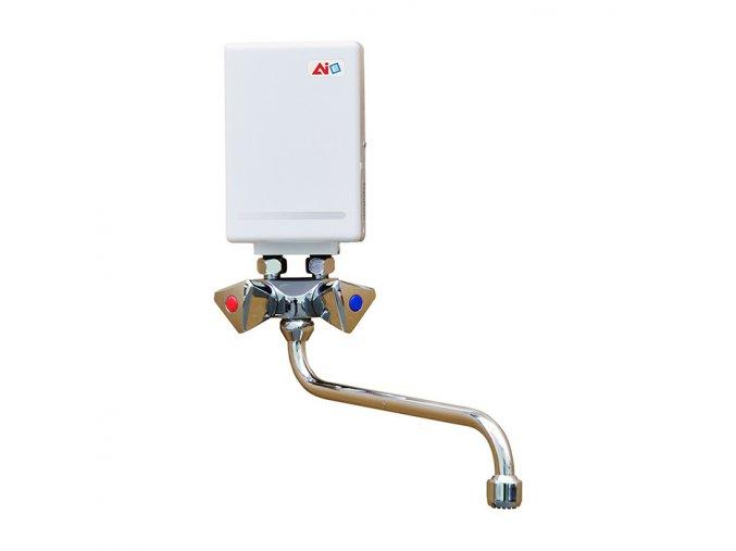 POB 350 / 3,5 kW Průtokový ohřívač vody beztlaký s vodovodní baterií | czkoupelna