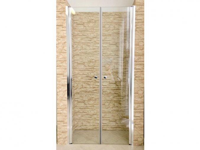 Sprchové dvoukřídlé dveře ROSS 90 x 185 cm