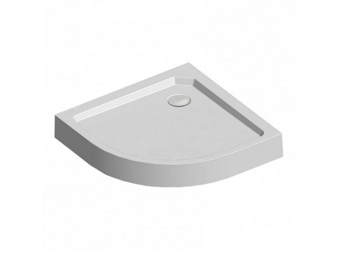 Sprchová vanička R550, 90x90x14 cm, SMC, bílá, včetně nožiček a sifonu pr. 90 mm (CV01H) | czkoupelna.cz