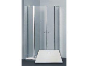 ELEGANT 90 clear NEW sprchový kout s vaničkou STONE 9090S