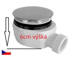 SOR01556-Sifon vaničkový 90 nízký, výška 6 cm