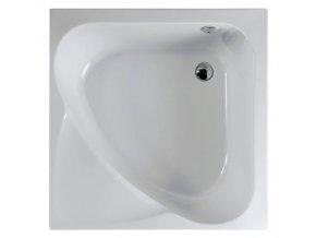 CARMEN sprchová vanička čtvercová, hluboká, 90x90x30cm, bílá