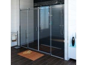 DRAGON sprchové dveře 1800mm, čiré sklo | czkoupelna.cz