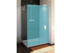 DRAGON boční stěna 1000mm, čiré sklo | czkoupelna