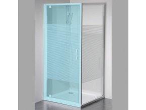 ETERNO boční stěna 800mm, sklo STRIP | czkoupelna