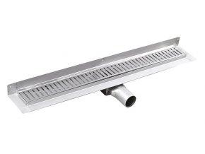 MANUS ONDA nerezový sprchový kanálek s roštem,ke zdi, 750x112x55mm | czkoupelna