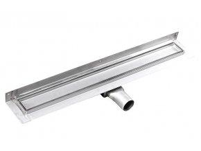 MANUS PIASTRA nerez sprchový kanálek s roštem pro dlažbu, ke zdi, 850x112x55 mm | czkoupelna