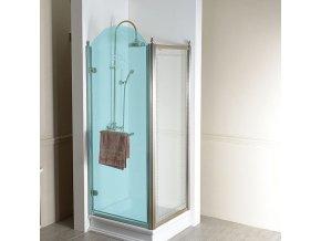 ANTIQUE boční stěna 1000mm, čiré sklo s dekorem, bronz