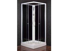 KODIAK 90 STONE - Sprchový box s vaničkou z litého mramoru - SHARK
