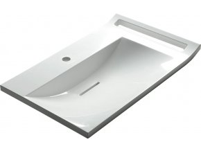 LUPO umyvadlo 72x45 cm, litý mramor, bílá