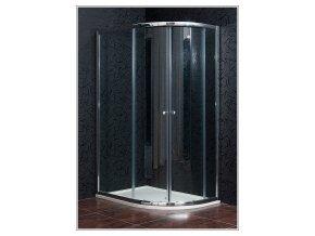 KLASIK NEW 80 x 110 cm L, sprchový kout levý  sklo čiré +  vanička litý mramor Levá