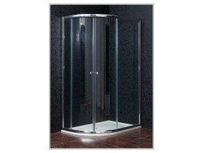 KLASIK NEW 80 x 120 cm, sprchový kout pravý, čiré sklo + vanička litý mramor