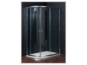 KLASIK NEW 90 x 120 cm, sprchový kout pravý, čiré sklo + vanička litý mramor