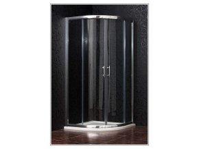 BRILIANT 80 clear NEW - Sprchový kout čtvrtkruhový