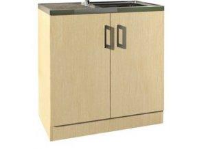 Kuchyňská skříňka Borovice s nerez dřezem KCH-402 L 80 | czkoupelna