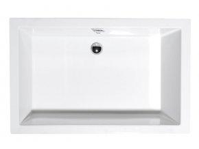 DEEP hluboká sprchová vanička 100x75x26cm, bílá