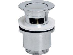 Uzavíratelná kulatá umyvadlová výpusť KLIKKLAK, malá zátka, V 30-50mm, chrom