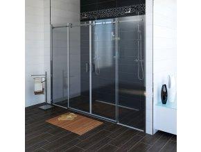 DRAGON sprchové dveře 1700mm, čiré sklo | czkoupelna.cz