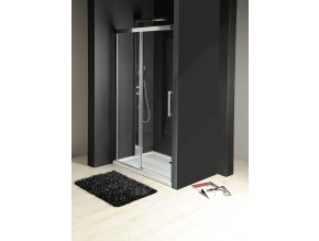 FONDURA sprchové posuvné dveře 1200mm  soft close zavírání, čiré sklo 8mm
