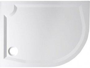 RIVA sprchová vanička z litého mramoru, čtvrtkruh 120x90cm, levá (GR1290L | czkoupelna
